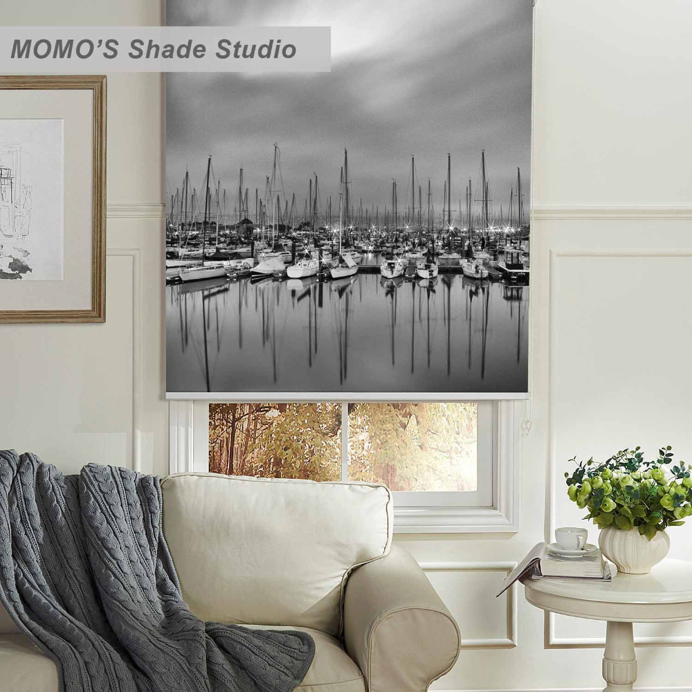 MOMO Scenic Window Curtains Roller Shades Blinds Thermal Insulated Blackout Fabric Custom Size, PRB set176MOMO Scenic Window Curtains Roller Shades Blinds Thermal Insulated Blackout Fabric Custom Size, PRB set176