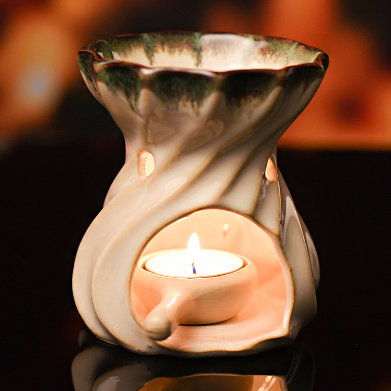 High quality Ceramic Oil Burners Handmade Candle Aromatherapy Oil Lamp Gifts And Crafts Home Decorations Aroma Furnace