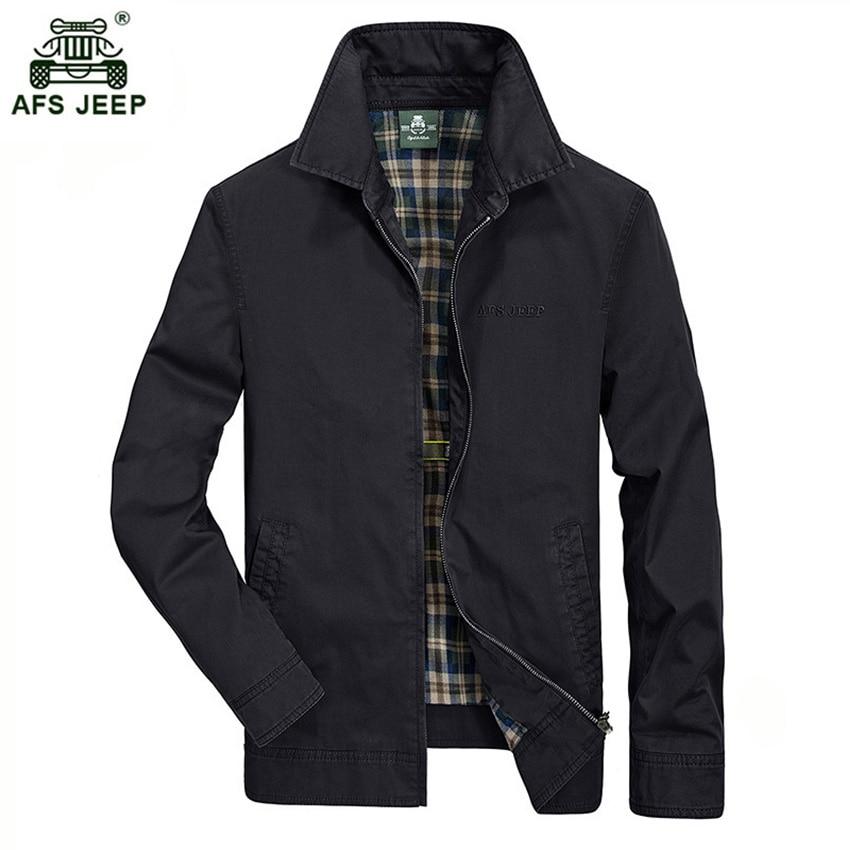 2017 Hot Sale New Design Men's Jacket AFS JEEP Brand Fashion Slim Plaid Jacket For Man Drop Shipping 128 D