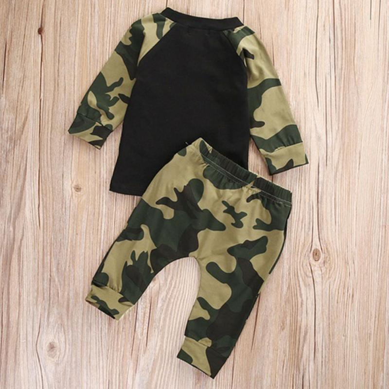 454f17a8c Army Camouflage Baby Boy Girl Set Long Sleeve Top Newborn Baby Suit Boy  Clothing Printed Sets Gift Suits Kids Clothes Set Infant-in Clothing Sets  from ...