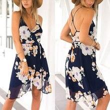 Fashion 2017 Women Summer Sexy Chiffon Boho Long Maxi Floral Beach Dress Ladies Casual Party Cocktail Clubwear Black Dresses