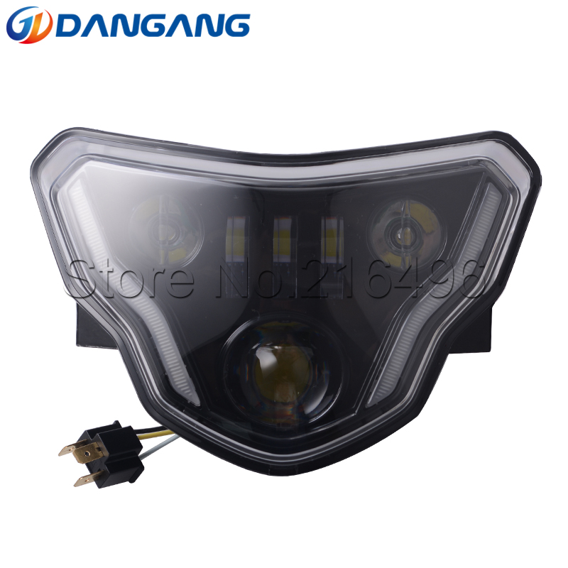 2018 LED Headlight High Low Beam with Angel Eyes DRL Assembly Kit and Replacement Headlight For BMW G310GS G310R
