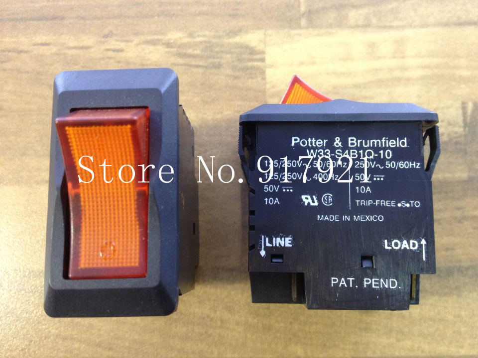 fe70adc49df9  ZOB  el original Potter brumfield W33-S4B1Q-10 América 250 V 2P10A  interruptor