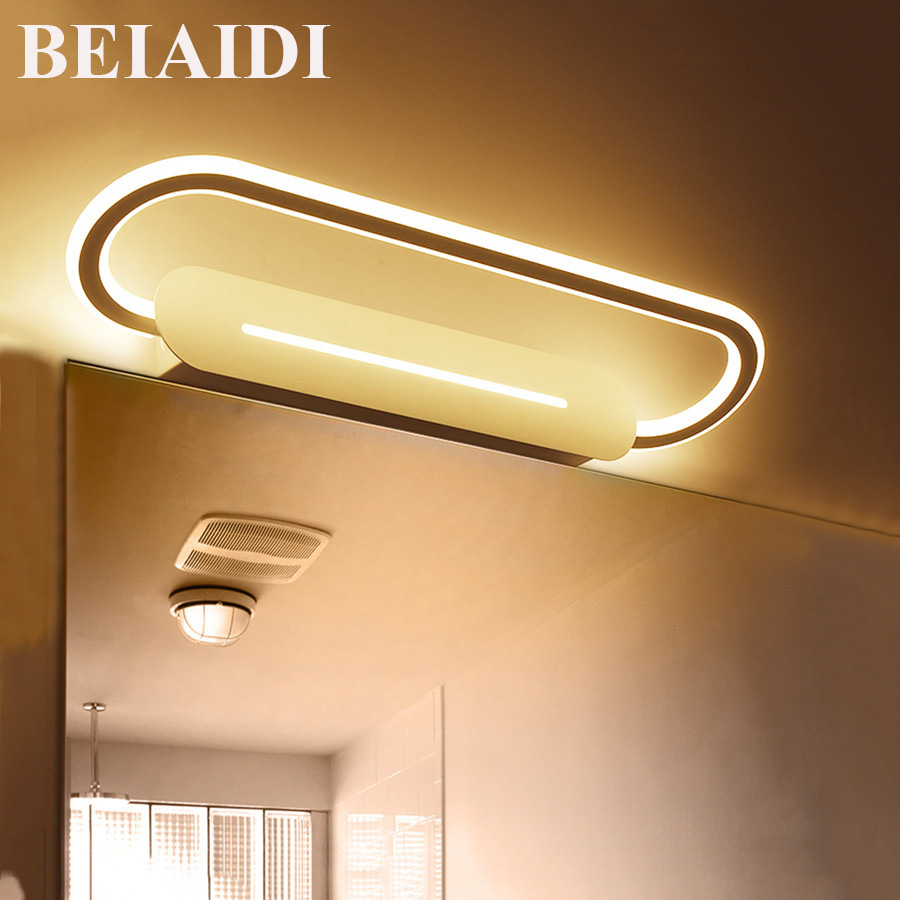 BEIAIDI 46CM 17W Rotatable Acrylic Bathroom Mirror Light Luxury Bedroom  Toilet Mirror Lamp Anti Fog Acrylic Make Up Mirror Light