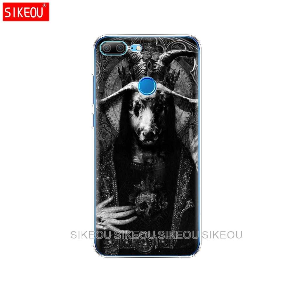 Pokrywa silikonowa telefon etui na Huawei Honor 10 V10 3c 4C 5c 5x 4A 6A 6C pro 6X7X6 7 8 9 LITE szatana straszny czaszki