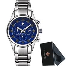 WWOOR Assista Men Marca de Luxo Casual Relógio de Quartzo Dos Homens Do Esporte Relógios de Aço Cheio de homens À Prova D' Água Relógio Militar Relogio masculino