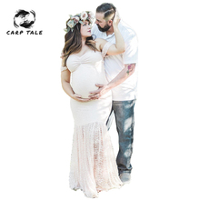 Lace Maternity Photography Props Dresses For Pregnant Women Clothes Maternity Dresses For Photo Shoot Pregnancy Dresses red maternity photography props pregnancy clothes for pregnant women long maternity dress evening romantic photo shoot vestdios