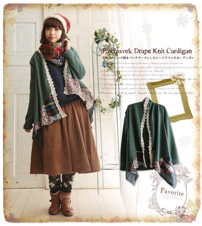 Lolita Mori Girl Invierno Jaquetas Abrigo Boho Kot Ceket