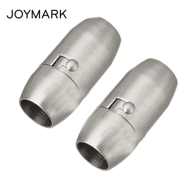 JOYMARK 5mm 6mm 8mm Round Hole Smooth And Matte Surface Stainless Steel Magnetic Lock Double Insurance Clasps BXGC-091