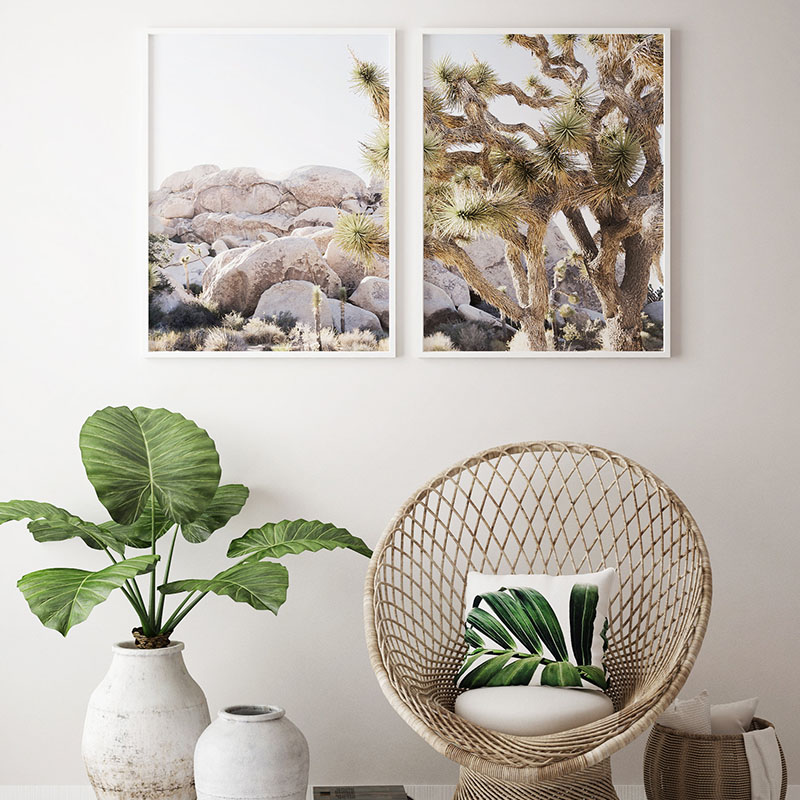 Us 3 73 31 Off Desert Landscape Camel Wall Art Tree Prints Poster Wall Pictures Canvas Painting For Living Room Boho Chic Art Home Decoration In