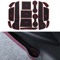 14 Pçs/set Car Styling Sulco Ranhura Pad Porta Interior Almofada De Látex Mat Anti-Slip Para Mitsubishi Outlander 2013-2016