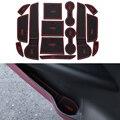 14 Unids/set Carstyling Pad Ranura Puerta Interior Ranura Estera de Látex Antideslizante Amortiguador Para Mitsubishi Outlander 2013-2016