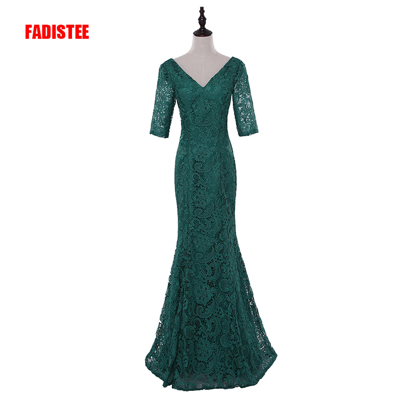 FADISTEE New arrival Gorgeous lace style   evening     dresses   Vestido de Festa mermaid long gown V-neck lace-up   dress   free shipping