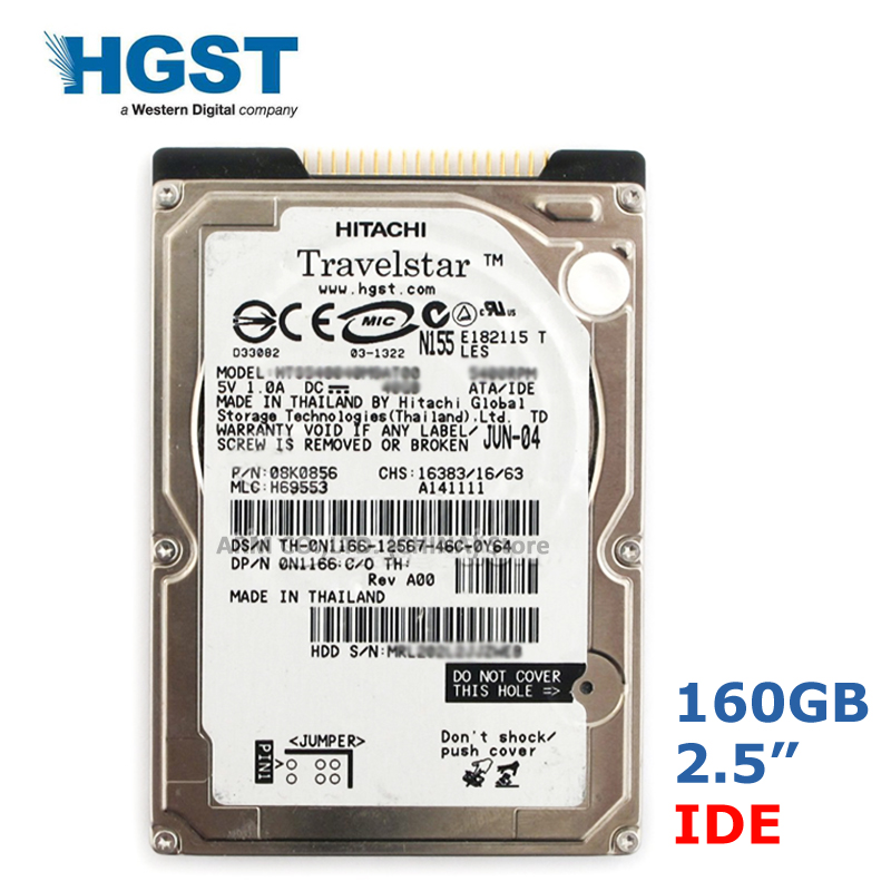 "HGST Brand 160GB 2.5"" IDE PATA 5400-7200rpm HDD Internal Hard Drives disk for Laptop Notebook disco duro interno 9.5mm 1"