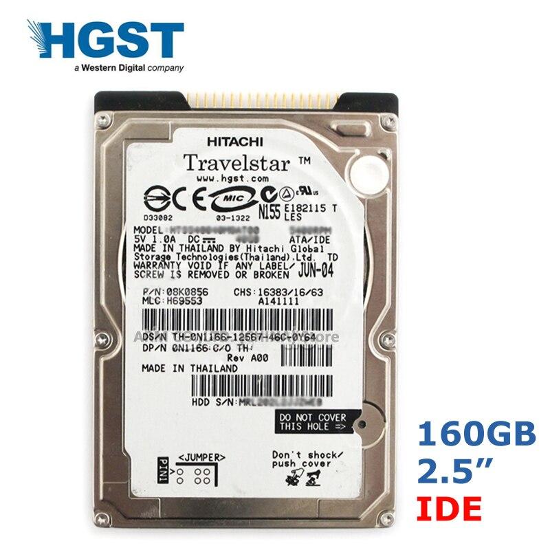 Внутренние жесткие диски HGST 160 Гб 2,5 дюйма IDE PATA 5400-7200 об/мин, внутренние жесткие диски для ноутбука, ноутбука, внутренний жесткий диск 9,5 мм
