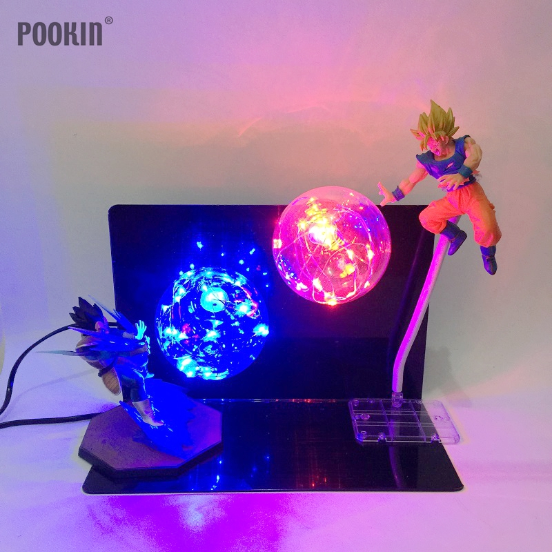 Exclusive Double Dragon Ball Son Goku Strength Bombs Luminaria Led Night Light Holiday Gift Room Decorative