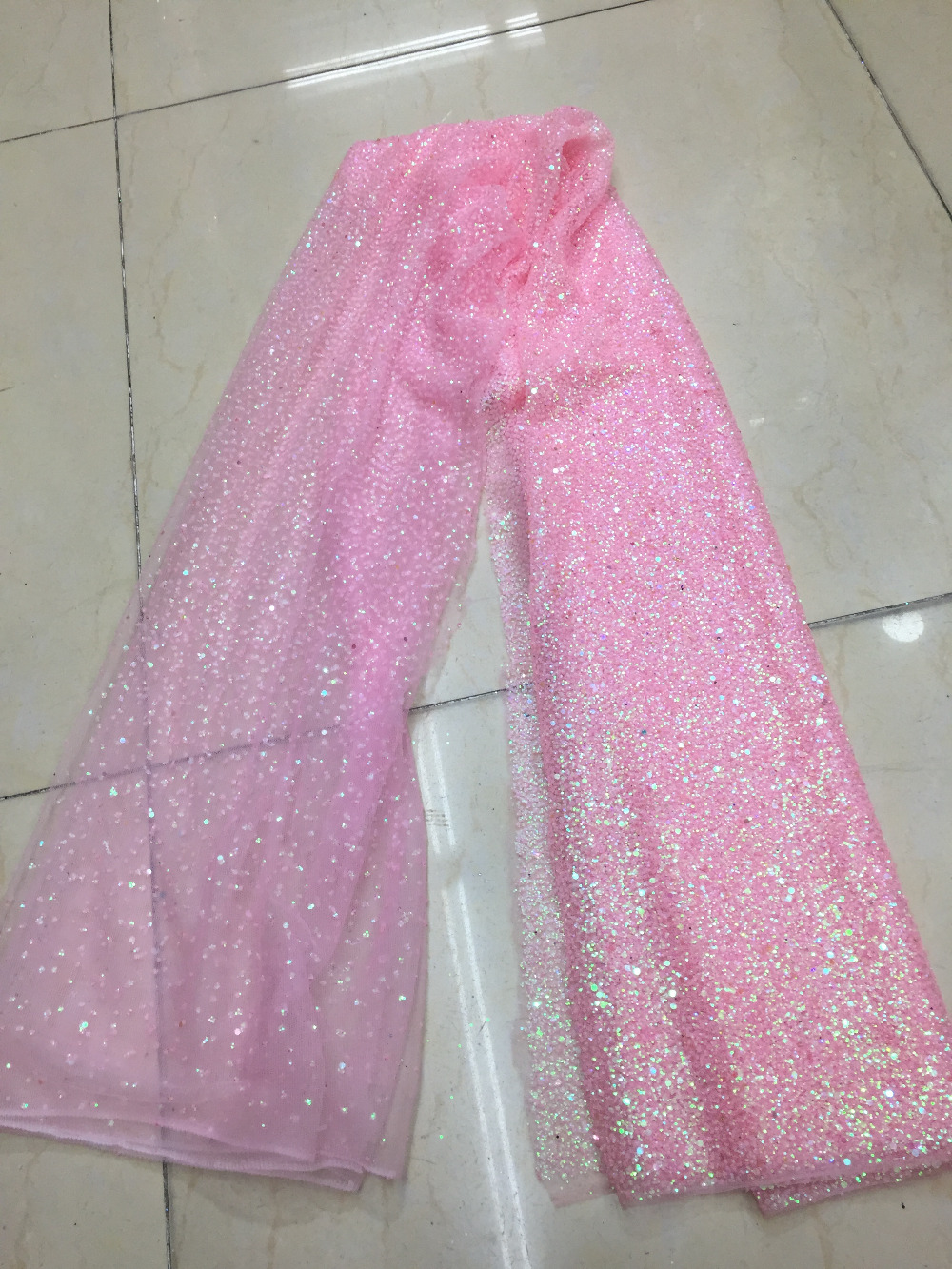 Aliexpress.com   Buy 5 yards bzh0014 pink dot dobby glued sparkle glitter  mesh net tulle lace fabric for sawing  evening dress from Reliable fabric  for ... 5198c8d10ac0