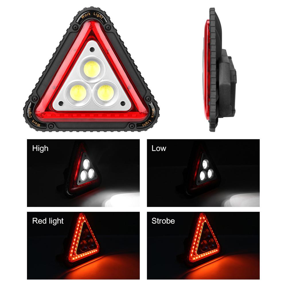 3COB USB LED Warning Light Car Broke Night Riding Fog Flashing Lamp Safety Indicator Light Outdoor Triangle Camping Tent Light