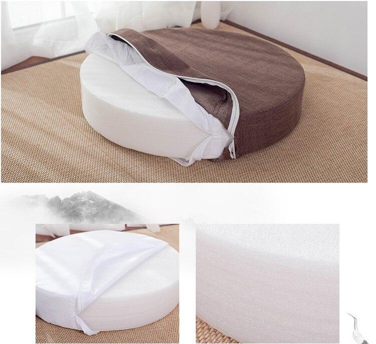 HTB1WMpKe8WD3KVjSZFsq6AqkpXaO Japanese-style futon worship Buddha sitting cushion fabric washable round linen balcony window tatami mat meditation lotus