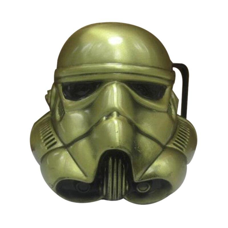 Fashion classic cowboys belt buckle metal exquisite 3D star wars mask brand diy mens designer brass belt buckles new year gift