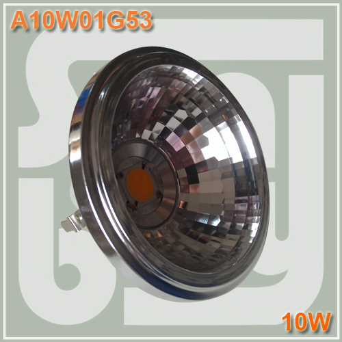 ФОТО Free shipping LED AR111 with reflector 10W COB G53 with Transformer replace to 100W bulb high lumens high quality