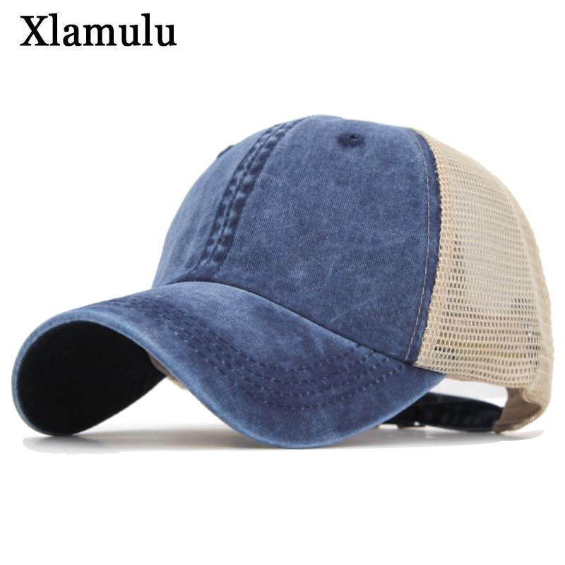 Xlamulu Mesh Snapback   Baseball     Caps   Women Sun Hats For Men Sport Casquette Bone Gorras Summer Outdoor   Baseball   Hats Male   Cap   Hat