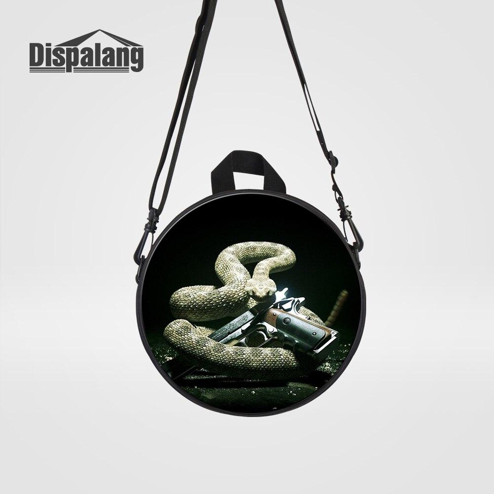 Dispalang Cool Black Snake Gun Printed School Backpack For Boys Children Mini Bookbags For Kindergarten Kids Daily Rucksack Pack