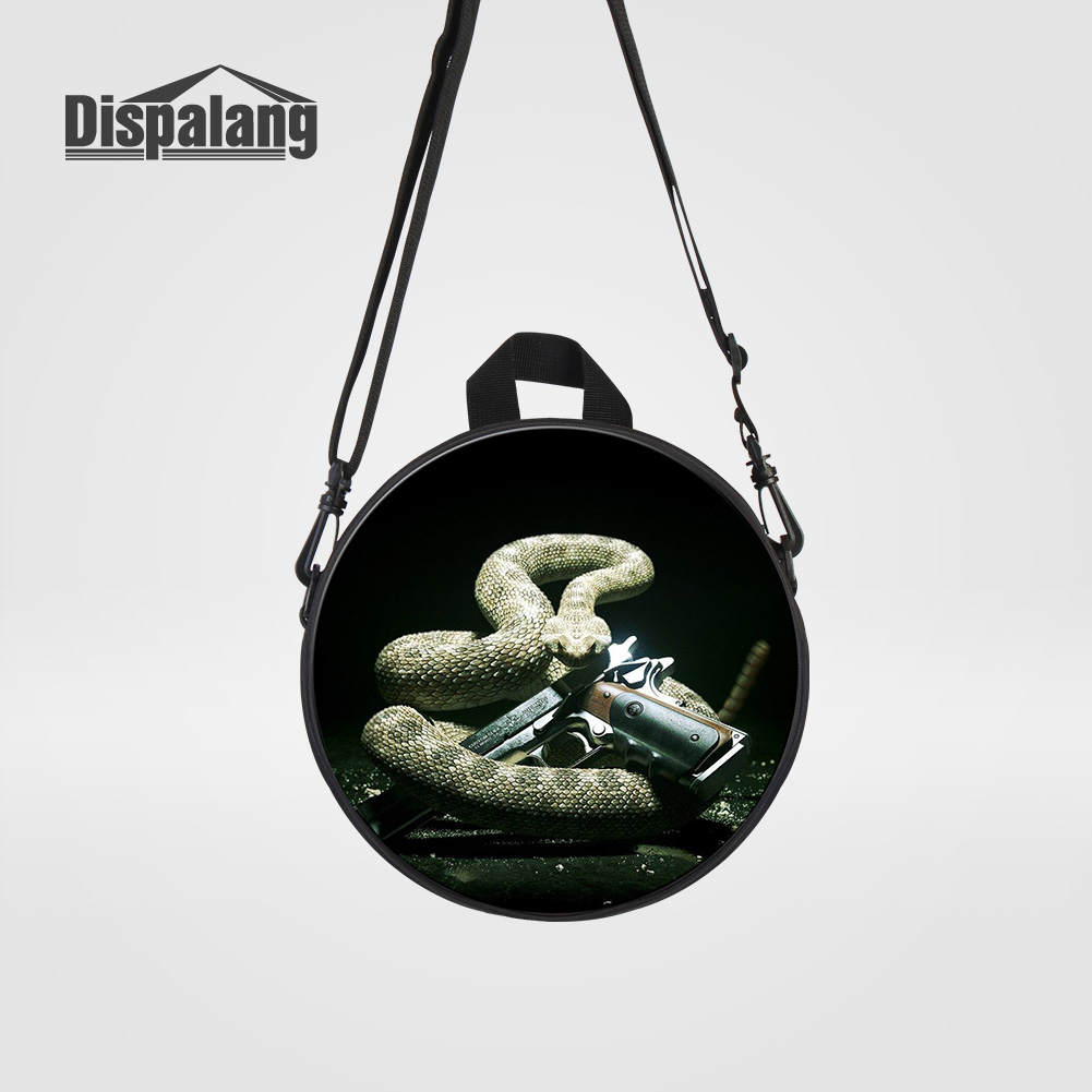 купить Dispalang Cool Black Snake Gun Printed School Backpack For Boys Children Mini Bookbags For Kindergarten Kids Daily Rucksack Pack по цене 848.32 рублей