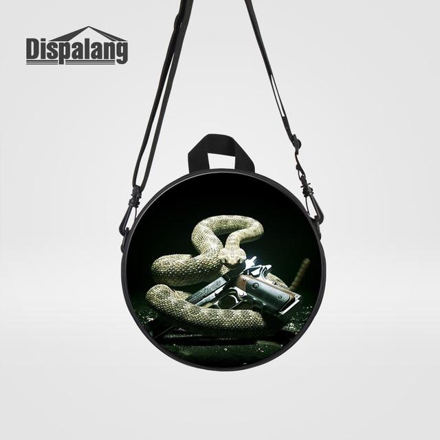 Dispalang Cool Black Snake Gun Printed School Backpack For Boys Children Mini Bookbags Kindergarten Kids