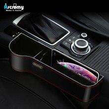 Ascromy qi 무선 충전기 자동차 주최자 무선 충전 스테이션 보관함 홀더 iphone 용 카시트 슬릿 갭 xs max xr x