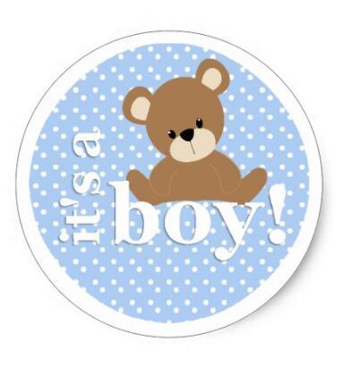 1 5inch it s a boy teddy bear sticker in stationery sticker from