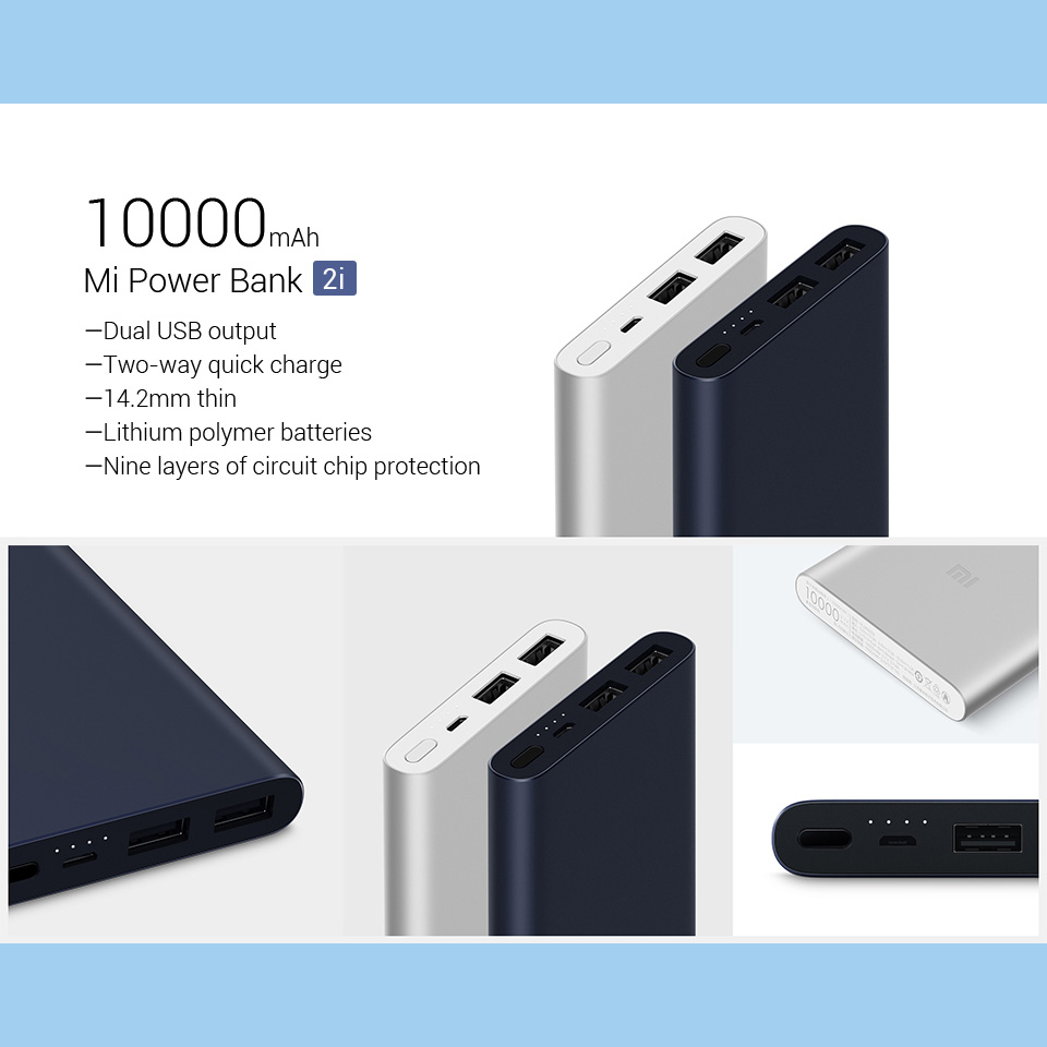 10000mAh Power Bank 15W Quick Charge with Dual USB Output 21