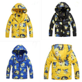 Retail 2016 New minions clothes girls winter coat Cartoon les minions thickening boys and girls hooded winter coat