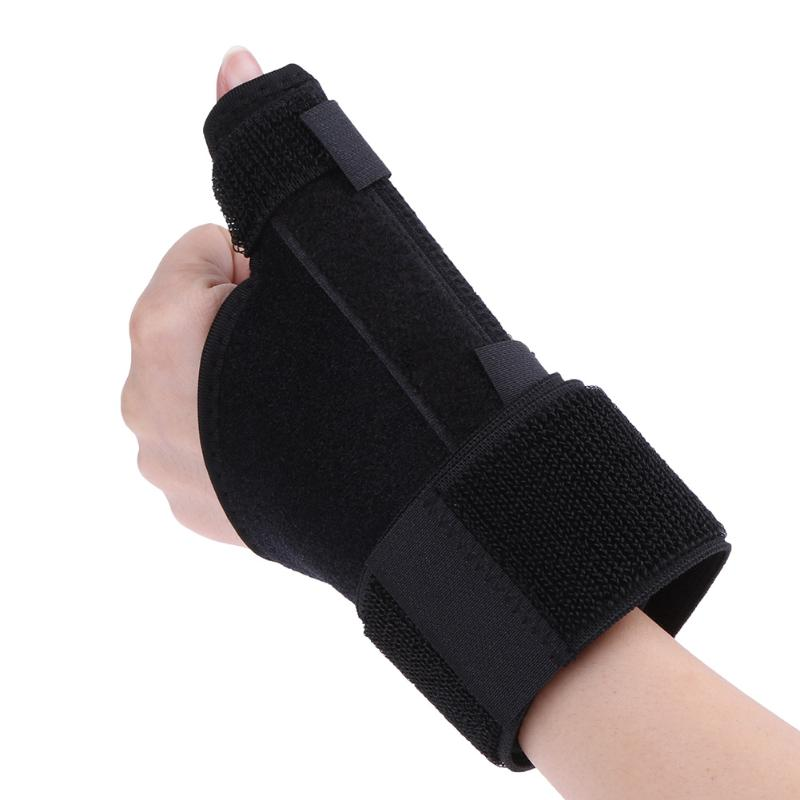 Sports Wrist Thumb Support Straps Wraps Bandage Elastic Hand Wrist Thumb Splint Brace Support Sprain Protector Wrap Black