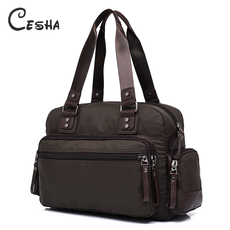 Cesha 2018 New High Quality Durable Waterproof Nylon Travel Bag Fashion Vintage Big Capacity Multi-pockets Handbag Shoulder Bag high quality waterproof nylon handbag brand pure color contracted firm travel bag more zipper women s shoulder bag fashion bag
