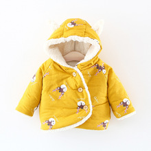 AD Cute Deer Pattern Bright Color Baby Boys Girls Jacket Toddlers Winter Coat Childrens Clothing