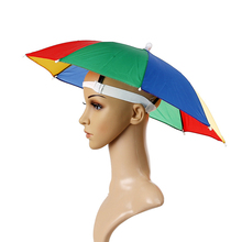 2019 Fashion Mutifunction Color Sun Hat Cap Foldable Umbrella Brolly Golf Travel Camping Fishing Hunting Handfree Random