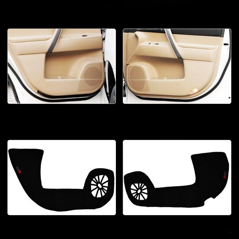 Ipoboo Savanini 4pcs Fabric Door Protection Mats Anti-kick Decorative Pads For Toyota Highlander 2012 ipoboo 4pcs fabric door protection mats anti kick decorative pads for hyundai elantra 2012 2015