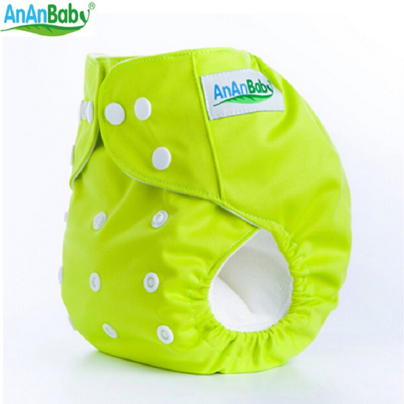 Ananbaby Reusable Baby Cloth Diaper washable Solid Color Baby Nappy One Size Adjustable Colors Available Cloth Diaper 1pc HA001
