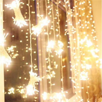 3X2M New Year Cortina De LED String Fairy Lights Navidad Garland LED Christmas Lights Cristmas Decoration Luces Decorativas iwhd 6x3m waterfull garland christmas lights outdoor indoor 220v new year cristmas decoration led fairy lights luces de navidad