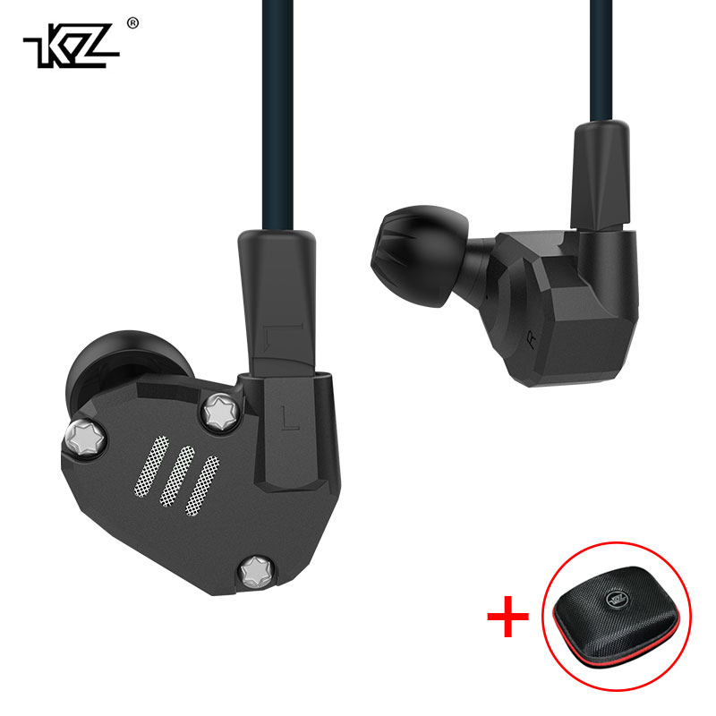 KZ ZS6 Eight Driver Earphone Dynamic And Armature In Ear HIFI Stereo Sport Headset Detachable Bluetooth Upgrade Cable with Case kz ates ate atr hd9 copper driver hifi sport headphones in ear earphone for running with microphone game headset