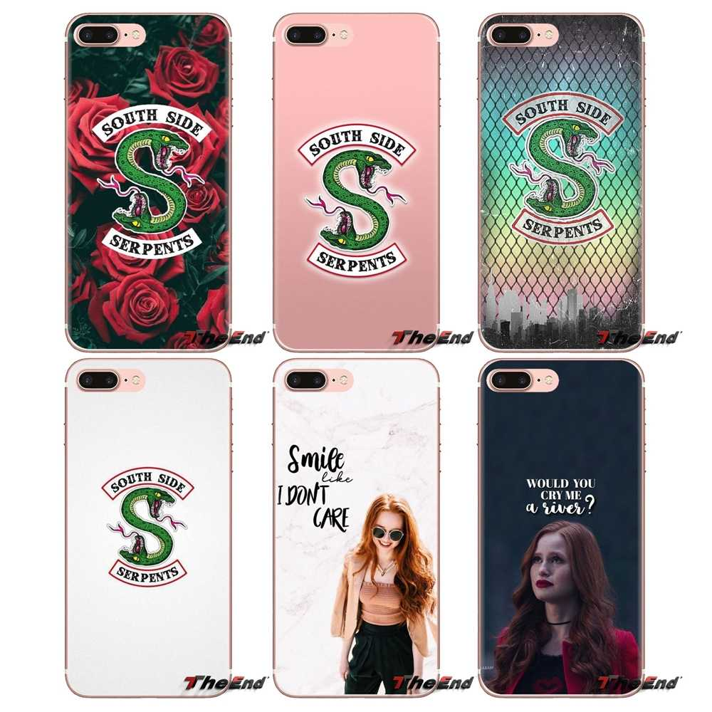 For iPod Touch Apple iPhone 4 4S 5 5S SE 5C 6 6S 7 8 X XR XS Plus MAX tv riverdale cheryl blossom Transparent Soft Shell Covers