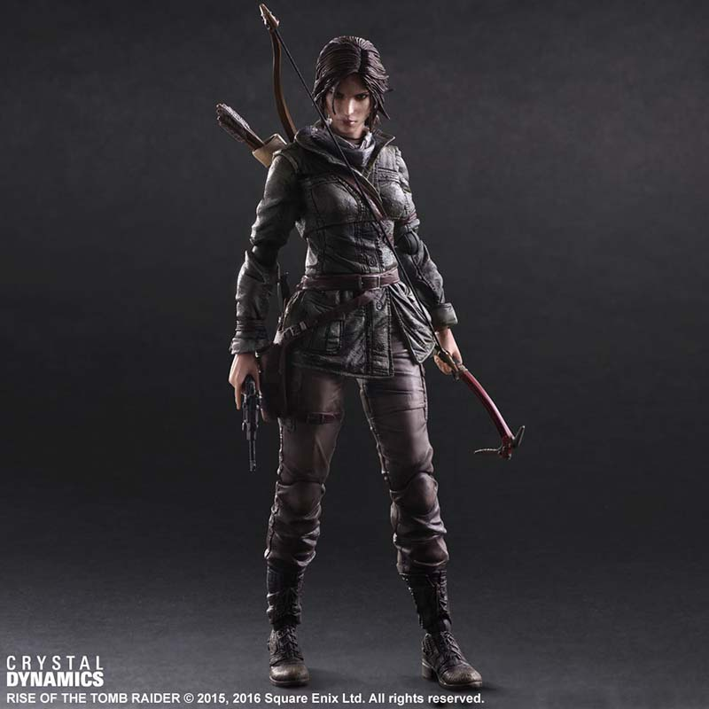 Square Enix Play Arts Kai Figure Rise of the Tomb Raider: Lara Croft PVC Action Figure Figurine Collectible Toy 27cm цена