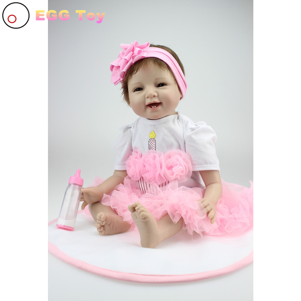 Reborn Babies 22inch Lifelike Baby Doll Silicone Doll Toy 55cm Play House Toy Birthday Gift Girl Brinquedod Princess Doll Reborn