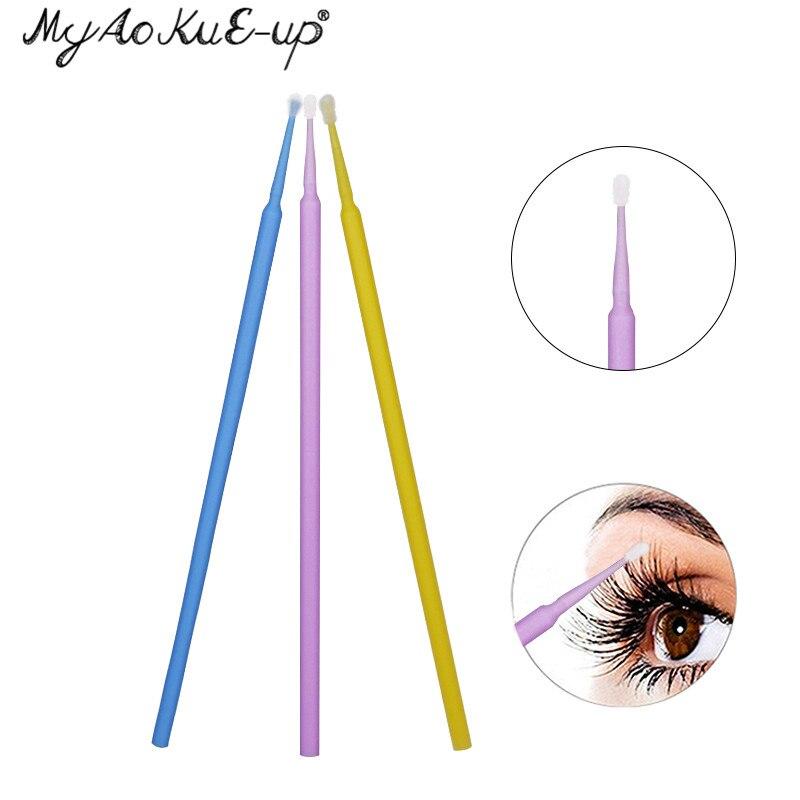 Disposable 100pcs Eyelash Brushes Mini Eyelashes Extension brushes Make Up Tool Applicator Wand Mascara Microbrush Makeup brush