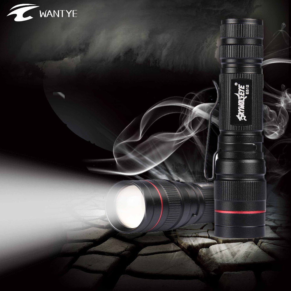 WANTYE Powerful Zoomable LED Flashlight XPE 3800 LM Portable Light penlight 3 Mode Light Torch Lamp For Outdoor Flash Light Bike