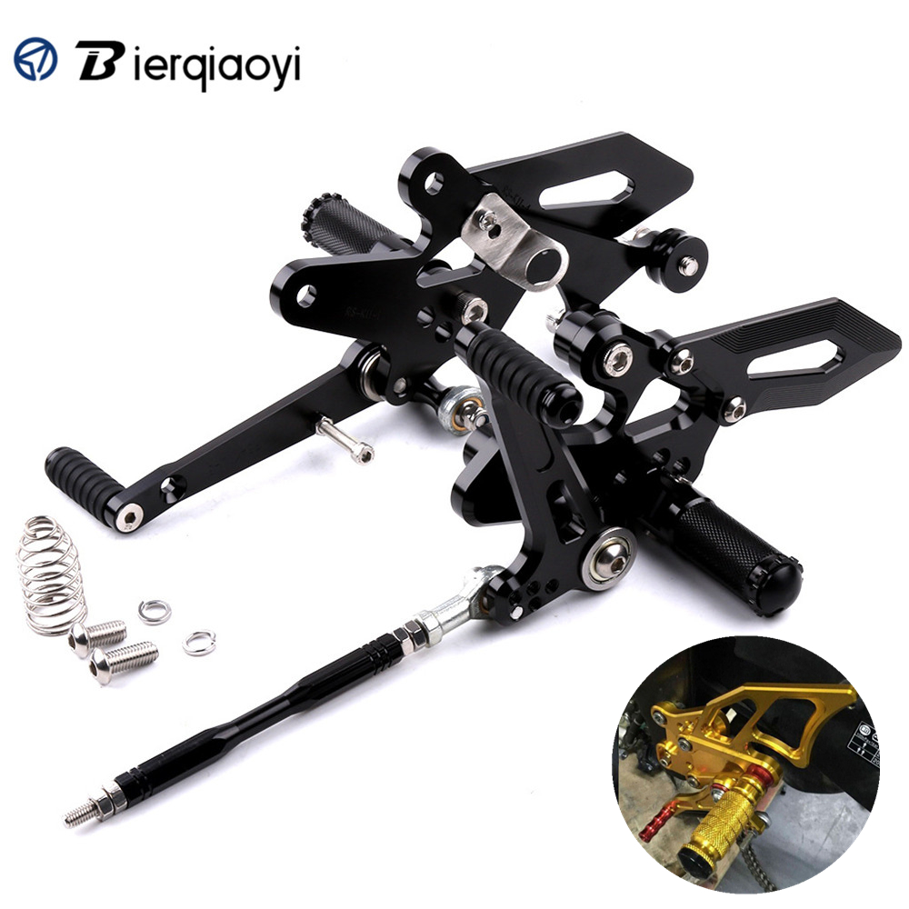 For Yamaha YZF R3 R25 2014 2015 2016 Motorcycle Accessories CNC Aluminum Adjustable Rear Sets Rearset Footrest Foot Rests Pegs in Foot Rests from Automobiles Motorcycles