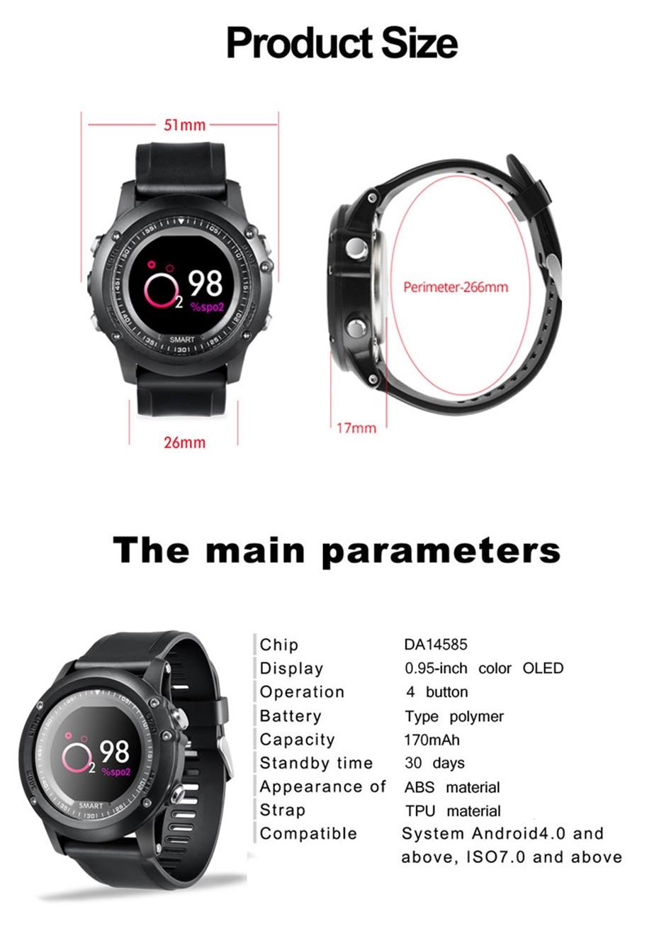 COLMI T2 IP68 Waterproof Heart Rate Monitor Push Message Call Reminder Clock Bluetooth 4.0 Brim Men Sport Smart Watch 18