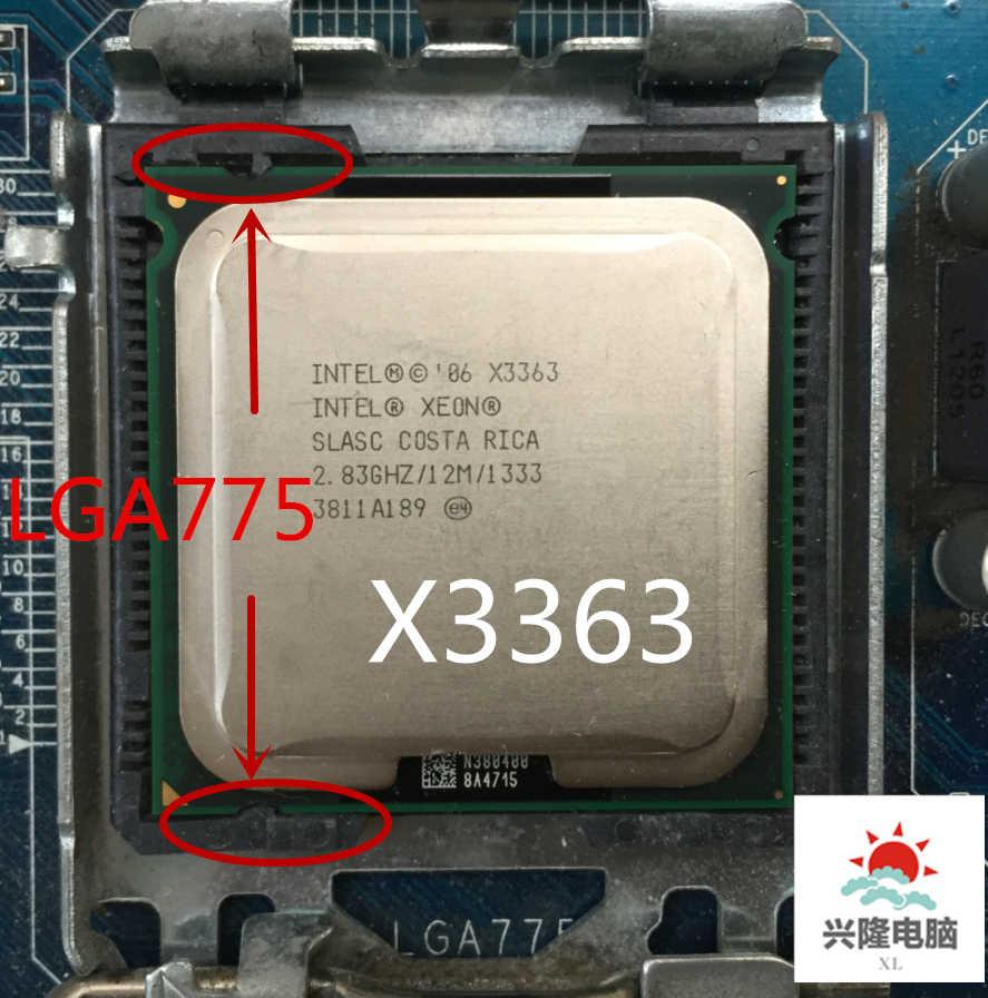 lntel Xeon X3363 2 83GHz/12M/1333Mhz/CPU equal to LGA775