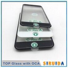 10 adet en soğuk pres 3 in 1 LCD ön ekran cam çerçeve ile OCA tutkal + kulak Mesh konuşmak iphone 8 7 6 6s artı 5 5s XR tamir